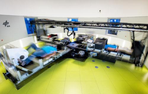Teil der Studie: Die Probanden fahren jeden Tag 30 Minuten in der Kurzarm-Human-Zentrifuge